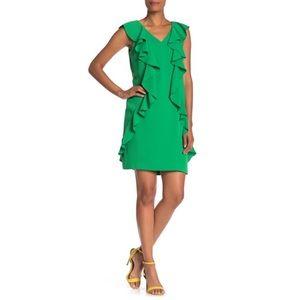 Trina Turk Sweetheart Ruffled Shift Dress